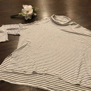 Lucky Brand | ozersized turtleneck striped sweater